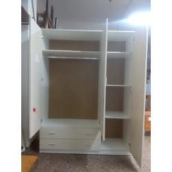 Armario 3 puertas con dos cajones
